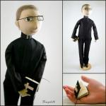 Male Cloth Doll Pastor - made to or..
