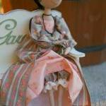 Cloth doll Lady with an Ermine