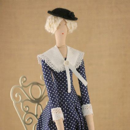 Art cloth doll Mary Poppins for home decor