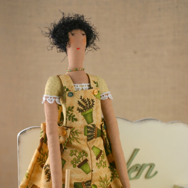 Art cloth doll Martha for home decor