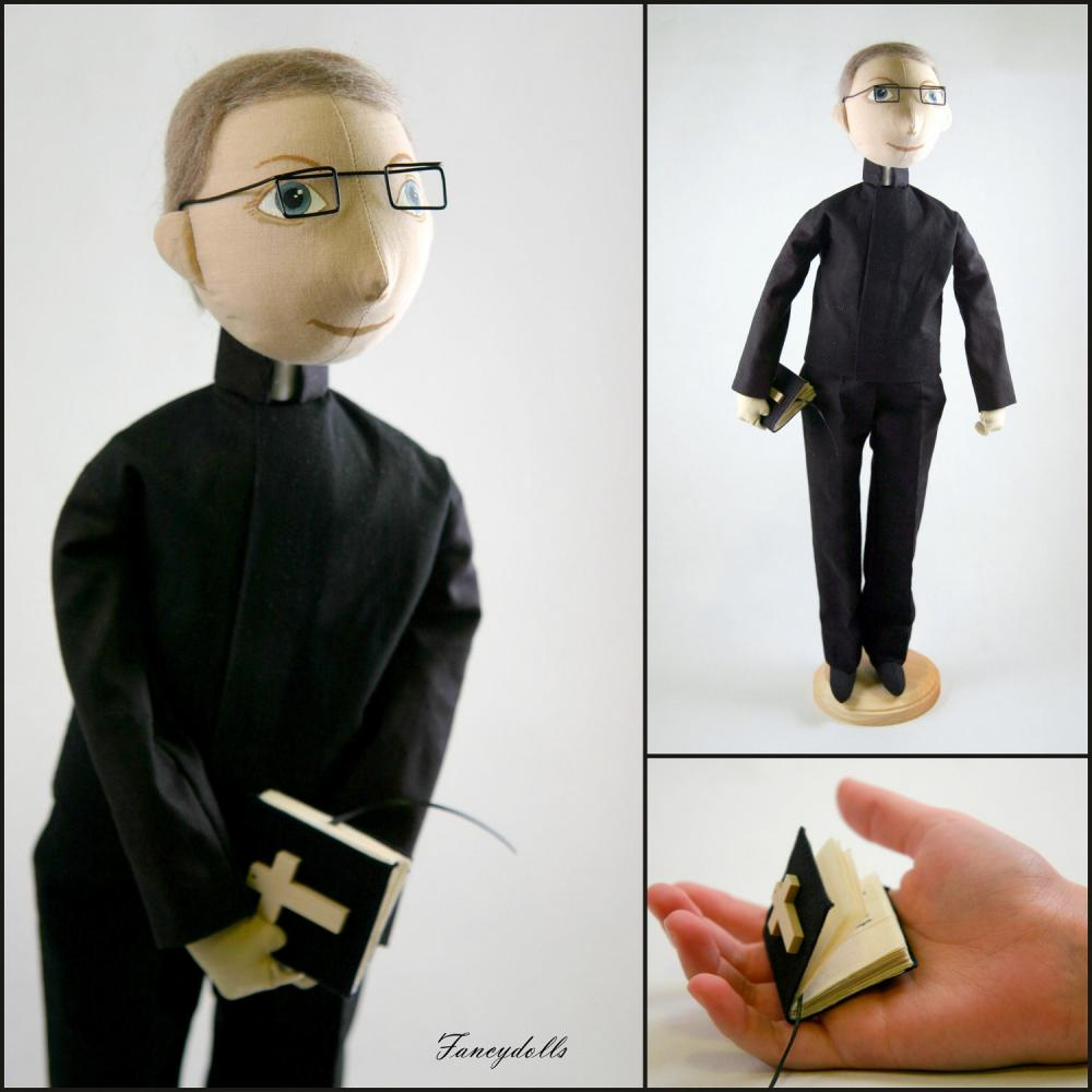 Male Cloth Doll Pastor - made to order