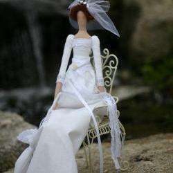 Tilda Fabric doll Bride Julia / wedding gift / interior doll - custom order