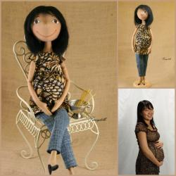 Portrait doll - Valentine's Day Personalized gift - made to order