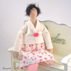 Art Cloth doll Gloria for home decor