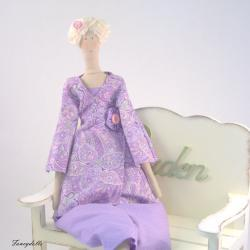Art cloth doll Emma for home decor