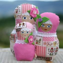 Russian dolls Matryoshka Babushka - set of three