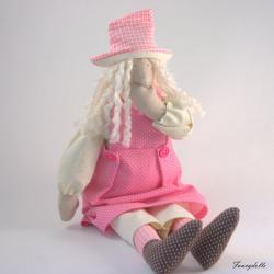 "Cloth doll Easter decor ""Gossip Girl"""